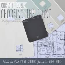 choosing the paint how to pick paint colours for an entire house