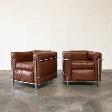 Esszimmerst Le Cor Vintage From 1973 Cassina Lc 2 Lounge Chairs Le Corbusier Sofas