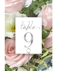 silver wedding table numbers amazing deal on table numbers silver wedding table numbers