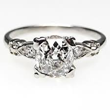 mine cut engagement ring antique engagement ring mine cut w accents solid