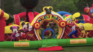 bounce house rentals houston walt disney s mickey mouse toddler moonwalk rental sky high