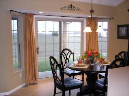 image result for bay window curtains for kitchen sliding door