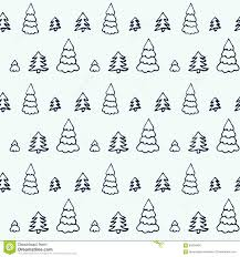 cute trees simple cartoon seamless patterns with cute trees stock vector
