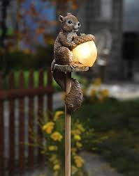 lawn stakes for lights sammy the squirrel outdoor garden light so cute for the home
