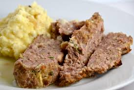 1770 house meatloaf with garlic sauce and truffled mashed potatoes