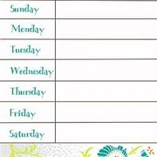 menu calendar printable blank calendar design 2017