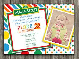 printable sesame street inspired birthday photo invitation