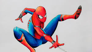 draw spider man spider man homecoming speed drawing