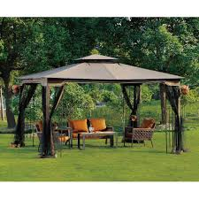 exterior enchanting garden design with unique hardtop gazebo