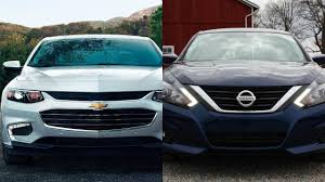 nissan altima 2016 tire size 2016 chevrolet malibu vs 2016 nissan altima sr youtube