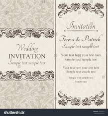 baroque wedding invitation card oldfashioned style stock vector