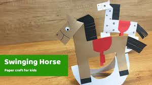 paper craft for kids horse l easy to make for everyone youtube