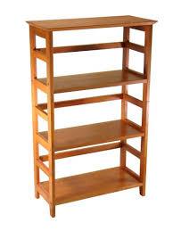 winsome wood 4 tier bookshelf honey kitchen dining