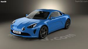 renault alpine a110 360 view of renault alpine a110 premiere edition 2017 3d model