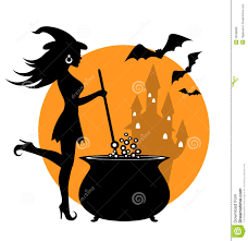 free halloween gif halloween witch and cauldron silhouette pictures clipart gif