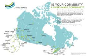Map Canada by Living Wage Canada Communities