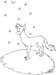 howl at the moon coyote coloring page free printable coloring pages