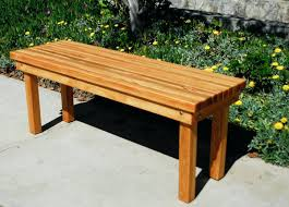 mexican patio ideas acacia wood 53 inch brown bench back design