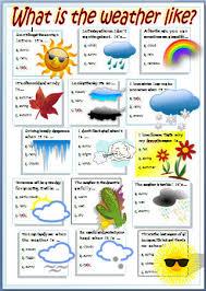 english stuff esl weather worksheet english pinterest