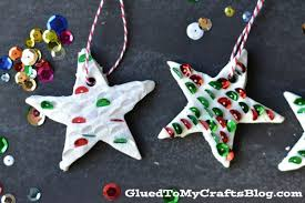 clay sequined ornaments kid craft