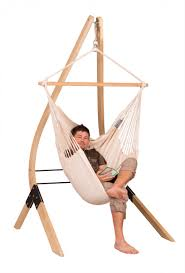 modesta latte basic hammock chair with fsc certified spruce stand