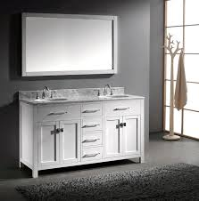 White Vanities For Bathroom by Virtu Usa Md 2060 Wmro Wh Caroline 60 Inch Bathroom Vanity With