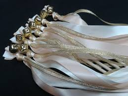 wedding wands 100 blush wedding wands lace ribbon bells gold or silver