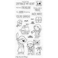 my favorite things clear stamps party like a pirate by birdie
