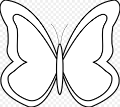 butterfly black and white clip simple butterfly black and
