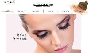 Website For Makeup Artist Halyna Hishchynska U2013 Webitoday
