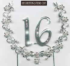 sweet 16 cake topper 16th birthday rhinestone silverplate cake decoration