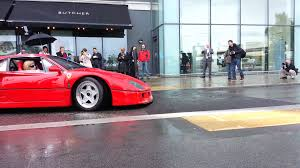 slammed ferrari f40 supercar rally 2013 f40 meets bump youtube