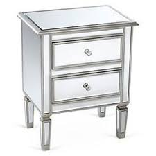 299 99antique silver 3 drawer mirrored nightstand 28