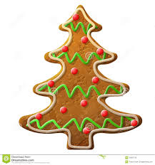 gingerbread christmas tree decorated colored icing royalty free