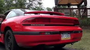 dodge stealth red 93 dodge stealth base with a flowmaster super 44 muffler youtube
