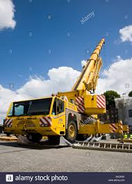 a terex demag telescopic boom crane stock photo royalty free