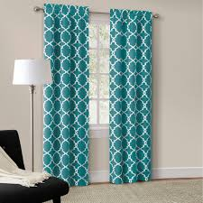 curtains and drapes sky blue striped curtain modern grommet
