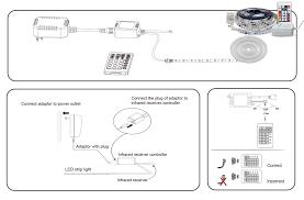 how to link led light strips 16 4ft rgb color chasing led strip light kit waterproof 150leds