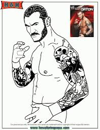 randy orton coloring pages to really encourage in coloring image