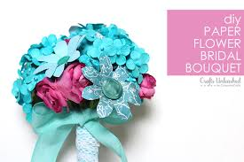 How To Make Bridal Bouquet How To Make A Paper Flower Bridal Bouquet
