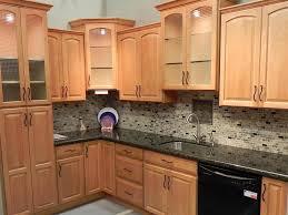 pretty maple kitchen cabinets backsplash tile ideas with