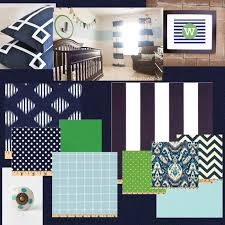 inspiration board navy light blue white and kelly green boys