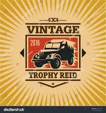 vintage jeep logo 4x4 off road trophy reid vintage stock vector 467663138 shutterstock