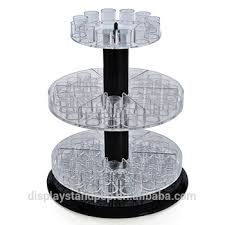 clear acrylic display rotating stand for cosmetics acrylic