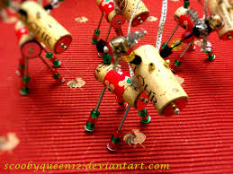 diy wine cork reindeer ornament by scoobyqueen12 on deviantart