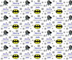 batman christmas wrapping paper personalised christmas wrapping paper batman style v2 ebay