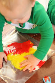 toddler approved spring art baggie painted flowers