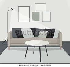 home interior vector home interior living room lounge design stock vector 726687646
