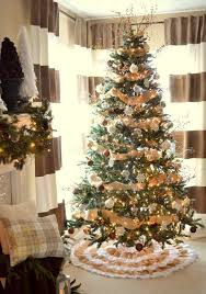 decorated trees with burlap