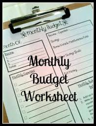 monthly budget control printable must do pinterest famiglie